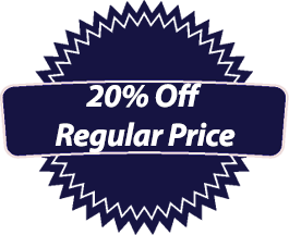 20% Off Regular Price